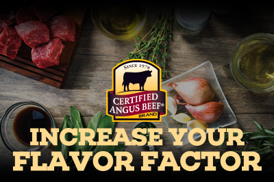 Herb Flat Iron with Red Wine Sauce recipe provided by the Certified Angus Beef® brand.