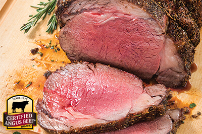Rosemary Ribeye Roast recipe provided by the Certified Angus Beef® brand.