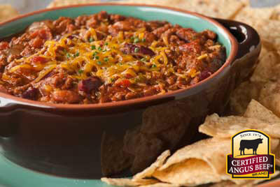 Easy Ground Beef Chili recipe provided by the Certified Angus Beef® brand.