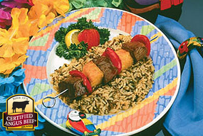 Grilled Hawaiian Beef Kabobs recipe provided by the Certified Angus Beef® brand.
