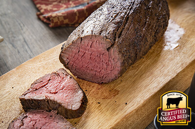 Rotisserie Herb Tenderloin Roast recipe provided by the Certified Angus Beef® brand.