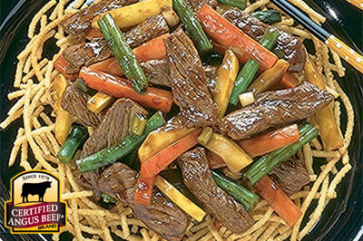 Beef and Garden Vegetable Stir Fry recipe provided by the Certified Angus Beef® brand.