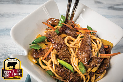 Beef & Garden Vegetable Stir-Fry recipe provided by the Certified Angus Beef® brand.