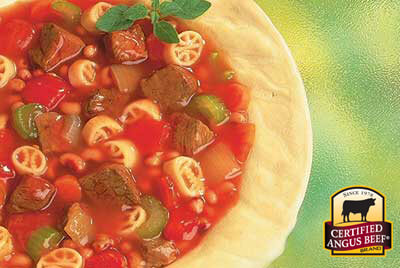 Hearty Beef Soup recipe provided by the Certified Angus Beef® brand.