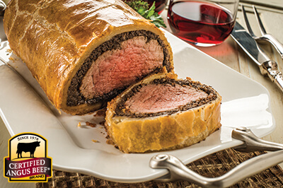 Beef Wellington recipe provided by the Certified Angus Beef® brand.