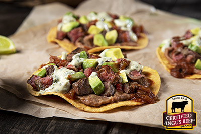Sirloin Tip Steak Beef Tostadas recipe provided by the Certified Angus Beef® brand.
