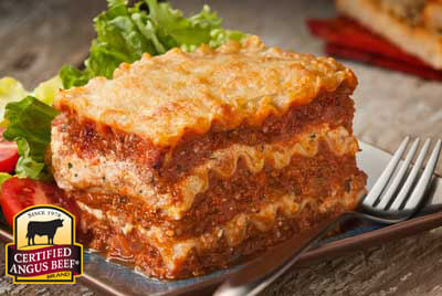 Big Beef Lasagna recipe provided by the Certified Angus Beef® brand.