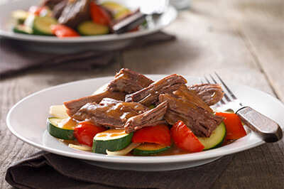 After-work Beef Pot Roast recipe provided by the Certified Angus Beef® brand.