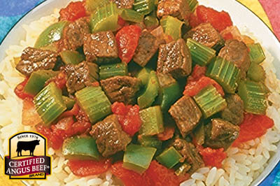 Creole Beef over Rice recipe provided by the Certified Angus Beef® brand.