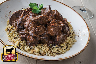 Beef Bourguignon recipe provided by the Certified Angus Beef® brand.