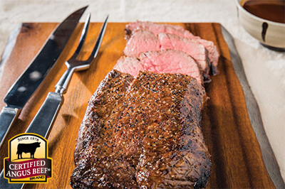 Simple Sriracha and Soy London Broil recipe provided by the Certified Angus Beef® brand.