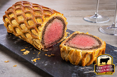Ultimate Beef Wellington recipe provided by the Certified Angus Beef® brand.