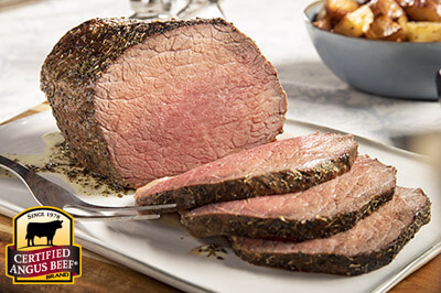 Bottom Round Roast with Herb Butter  recipe provided by the Certified Angus Beef® brand.