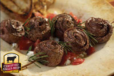 Pinwheel Steak Skewers recipe provided by the Certified Angus Beef® brand.