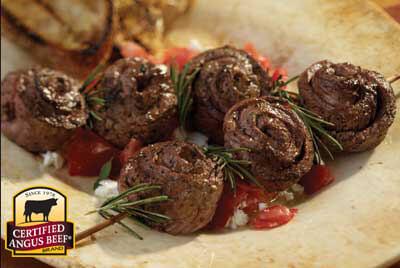 Pinwheel Steak Skewers recipe provided by the Certified Angus Beef® brand.