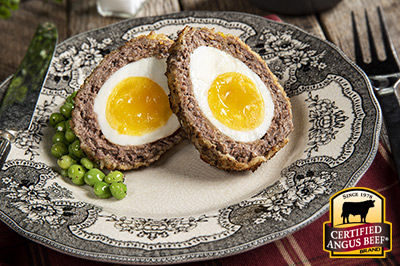 Air Fryer Scotch Egg recipe provided by the Certified Angus Beef® brand.