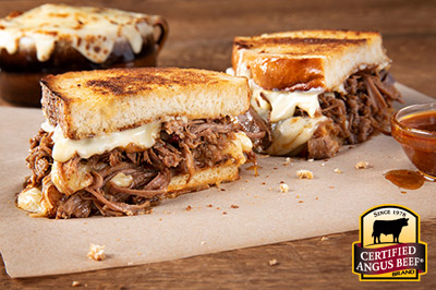 Instant Pot Beef Baked Grilled Cheese recipe provided by the Certified Angus Beef® brand.