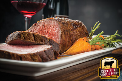 Tenderloin Roast with Horseradish Cream Sauce  recipe provided by the Certified Angus Beef® brand.