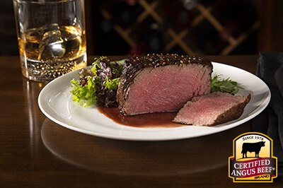Pan Roasted Filet with Red Wine Reduction Sauce recipe provided by the Certified Angus Beef® brand.