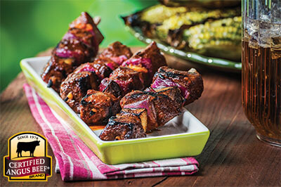 Sugar Cane Steak Kabobs recipe provided by the Certified Angus Beef® brand.