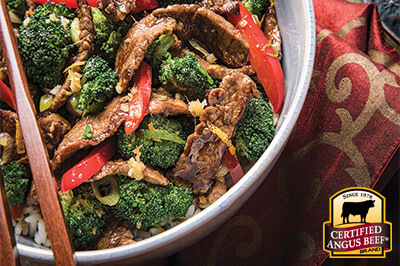 Orange Beef with Broccoli Stir-Fry recipe provided by the Certified Angus Beef® brand.