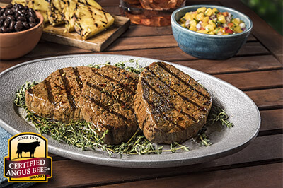 Sweet Jerk-Spiced Eye of Round Steaks recipe provided by the Certified Angus Beef® brand.