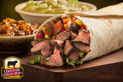 Sirloin Burritos with Red Chimichurri Sauce  recipe provided by the Certified Angus Beef® brand.