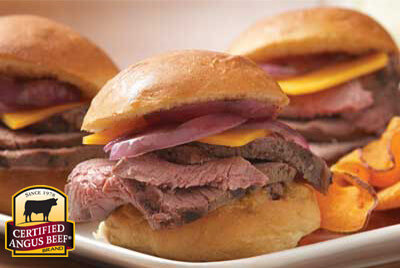 Grilled Sirloin Mini Sandwiches recipe provided by the Certified Angus Beef® brand.