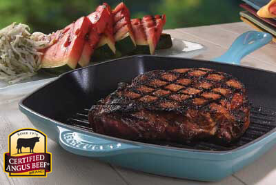 Ribeye with Jicama and Grilled Watermelon Slaw recipe provided by the Certified Angus Beef® brand.