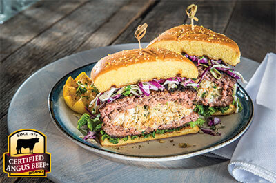 Chesapeake Bay Crab-stuffed Burger recipe provided by the Certified Angus Beef® brand.