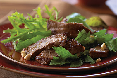 Simple Asian Beef Salad recipe provided by the Certified Angus Beef® brand.