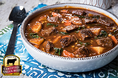 Fragrant Beef Stew with Collard Greens and Lentils recipe provided by the Certified Angus Beef® brand.