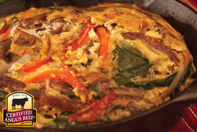 Shredded Beef Frittata recipe provided by the Certified Angus Beef® brand.