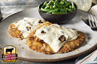 Air Fryer Country Fried Steak recipe provided by the Certified Angus Beef® brand.
