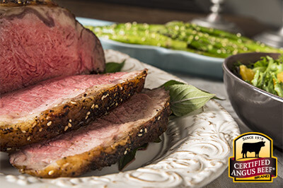 Togarashi Rubbed Strip Roast recipe provided by the Certified Angus Beef® brand.