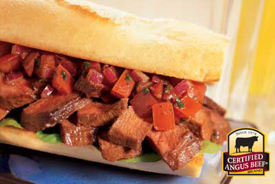 Steak Bruschetta Sandwich recipe provided by the Certified Angus Beef® brand.