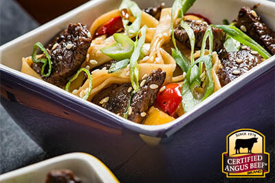 Teriyaki Beef Lo Mein recipe provided by the Certified Angus Beef® brand.