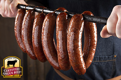 Texas Smoked Hot Links recipe provided by the Certified Angus Beef® brand.