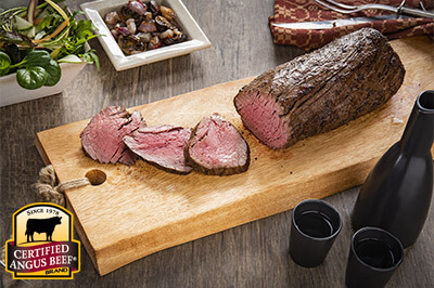 Reverse Sear Tenderloin with Miso Butter and Roasted Mushrooms recipe provided by the Certified Angus Beef® brand.