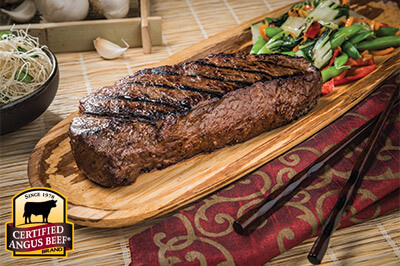Garlic and Five Spice Strip Steaks recipe provided by the Certified Angus Beef® brand.