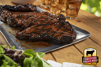T-Bone Steaks with Barbecue Glaze recipe provided by the Certified Angus Beef® brand.