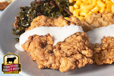 Country Fried Steak with White Gravy recipe provided by the Certified Angus Beef® brand.