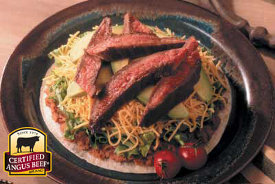 Beef Tostadas recipe provided by the Certified Angus Beef® brand.