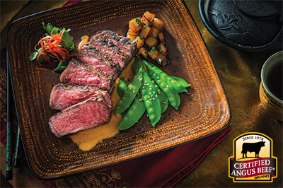 Thai Curry Strip Steak recipe provided by the Certified Angus Beef® brand.