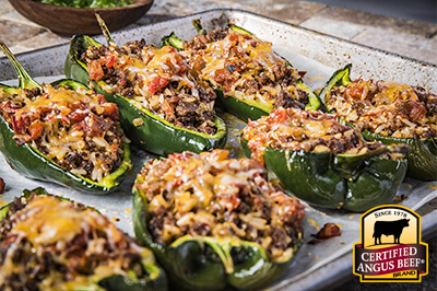 Beef Stuffed Poblano Bake