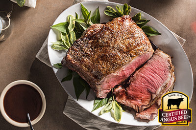 Strip Roast with Red Wine Reduction Sauce recipe provided by the Certified Angus Beef® brand.