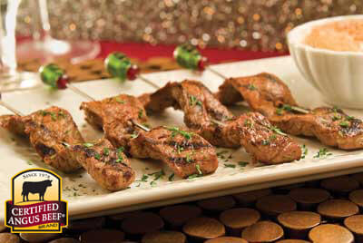 Spicy Steak Satays with Pumpkin Aioli recipe provided by the Certified Angus Beef® brand.