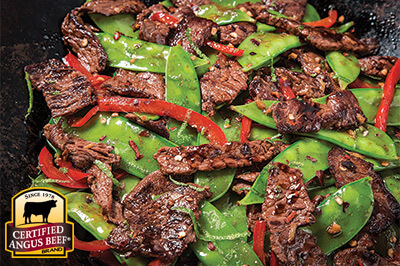 Ginger Lime Beef Stir-Fry recipe provided by the Certified Angus Beef® brand.