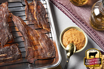 Miso Beef Jerky recipe provided by the Certified Angus Beef® brand.