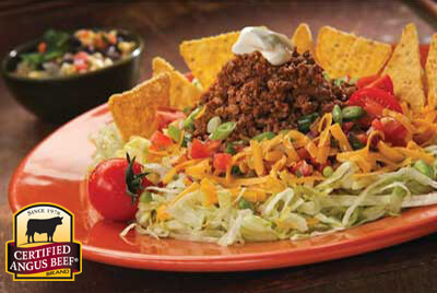 Beef Taco Salad recipe provided by the Certified Angus Beef� brand.